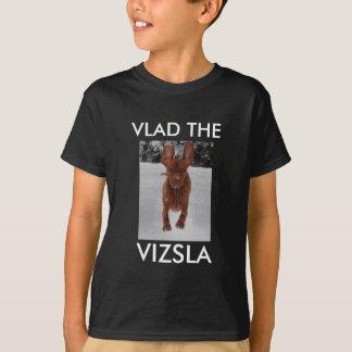 De T-shirt van Vizsla - donkere slechts kleuren