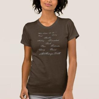 De T-shirt van vrouwen met Unisex-namen op