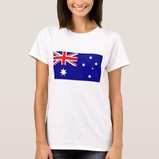 De T-shirt van vrouwen met Vlag van Australië