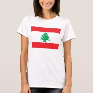De T-shirt van vrouwen met Vlag van Libanon