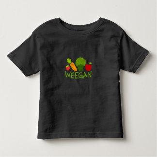 De T-shirt van Weegan van de peuter - Dark