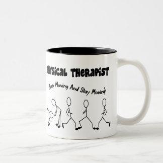 De T-shirts en de Giften van de fysiotherapeut Tweekleurige Koffiemok