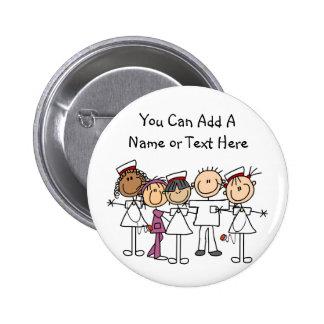 De T-shirts en de Giften van de Week van verpleegs Ronde Button 5,7 Cm