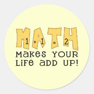 De T-shirts en de Giften van de wiskunde Ronde Sticker