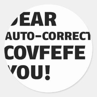 De T-shirts van Covfefe Ronde Sticker