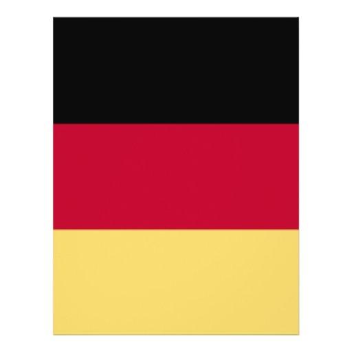 De T-shirts van de Vlag Duitsland & Deutschland &  Gepersonaliseerde Folder
