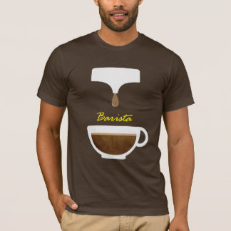 de t-shirts van koffiebarista