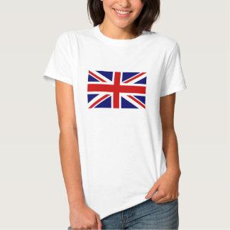 De T-shirts van vrouwen met de Britse vlag van
