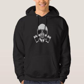 de t-shirtsweatshirt van de gasmaskerstencil hoodie