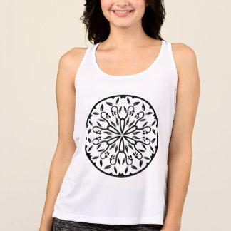De t-shirtwit van ontwerpers met mandala tanktop