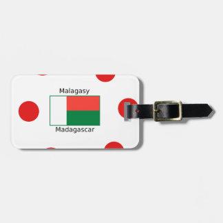 De Taal en Ontwerp het van Madagascar van de Vlag Bagagelabel