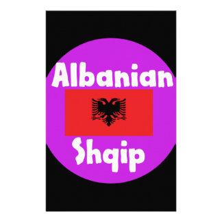 De Taal van Albanië en het Ontwerp van de Vlag Briefpapier