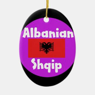 De Taal van Albanië en het Ontwerp van de Vlag Keramisch Ovaal Ornament