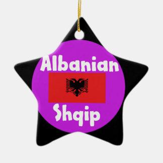 De Taal van Albanië en het Ontwerp van de Vlag Keramisch Ster Ornament