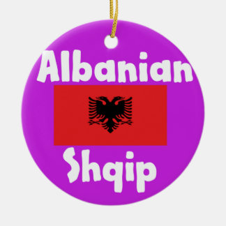 De Taal van Albanië en het Ontwerp van de Vlag Rond Keramisch Ornament