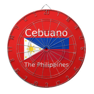 De Taal van Cebuano en de Vlag van Filippijnen Dartbord