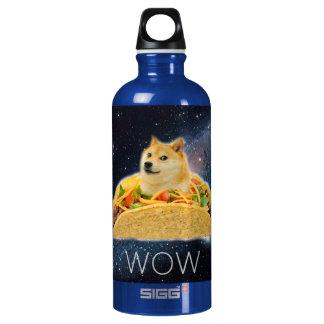 De taco van de doge - doge-shibe-doge hond-leuke aluminium waterfles