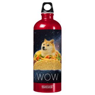 De taco van de doge - doge-shibe-doge hond-leuke waterfles
