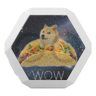 De taco van de doge - doge-shibe-doge hond-leuke witte bluetooth speaker