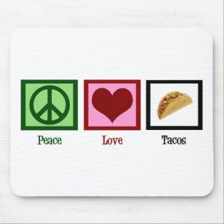 De Taco's van de Liefde van de vrede Muismatten