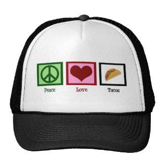 De Taco's van de Liefde van de vrede Trucker Cap