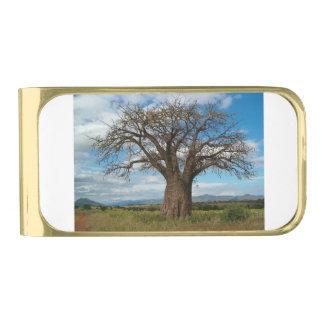 De Tak van de Boom van de baobab personaliseert Vergulde Geldclip