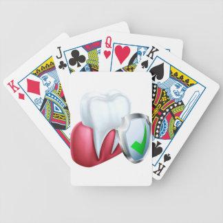 De Tand en de Gom van het schild Poker Kaarten