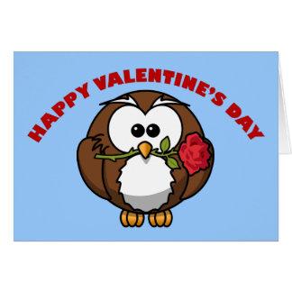 De Tango van de Uil van gelukkig Valentijn Kaart