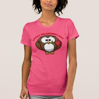De Tango van de Uil van gelukkig Valentijn T Shirt