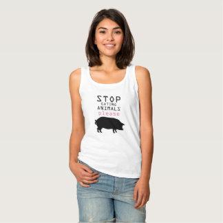 De Tanktop van de veganist
