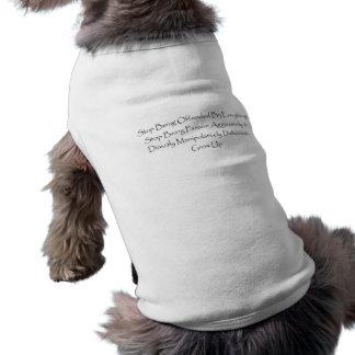 De Tanktop van Doggie. Einde die worden beledigd T-shirt