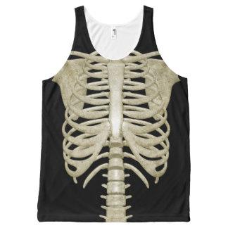 De Tanktop van het Skelet van het Kostuum van de All-Over-Print Tank Top