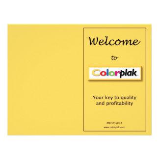 De Tarifering van Colorplak Folder Ontwerp