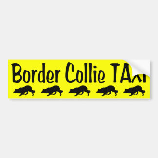 De Taxi van border collie Bumpersticker