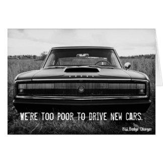 De te Slechte Lader van Dodge - om Nieuwe Auto's Wenskaart