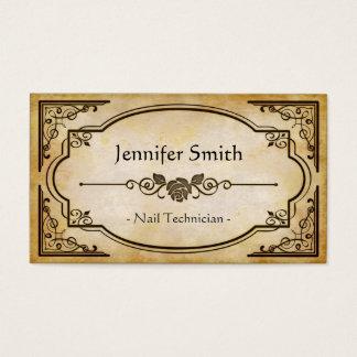 De Technicus van de spijker - Elegante Vintage Visitekaartjes