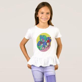De teddybeer abd hart verstoorde t-shirt van het