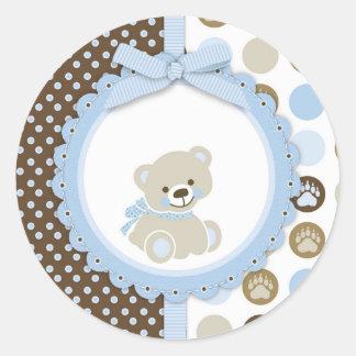 De Teddybeer van de jongen dankt u Ronde Sticker