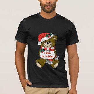 De Teddybeer van de kerstman met Pet en Mof T Shirt