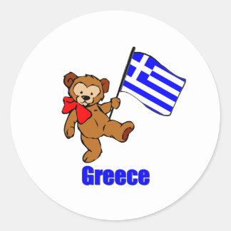De Teddybeer van Griekenland Ronde Sticker