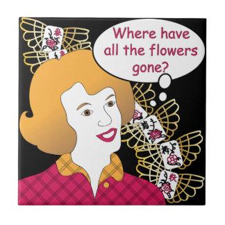 De Tegel van de Bloemen van de Spreuken van Jongg  Keramisch Tegeltje