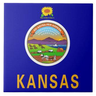 De Tegel van de Vlag van de Staat van Kansas Tegeltje