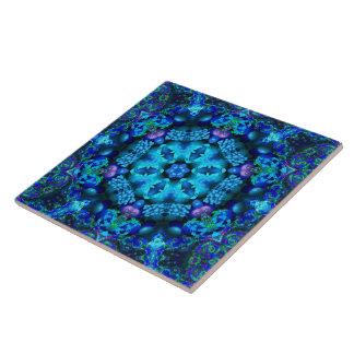 De Tegel van Mandala van de Hoorn des overvloeds v Tegeltje Vierkant Large