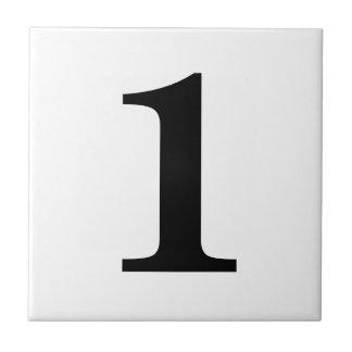 De Tegels van het aantal Keramisch Tegeltje