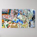 De Tegels van het Mozaïek van Guell van het Park v