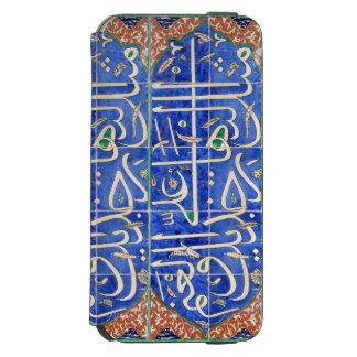 De tegels van Iznik met Islamitische kalligrafie