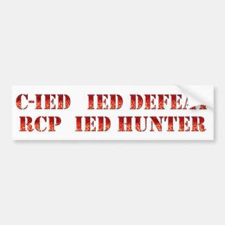 De tegen Reeks van de Sticker IED