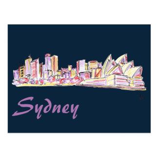 De Tekening van de Horizon van Sydney Briefkaart