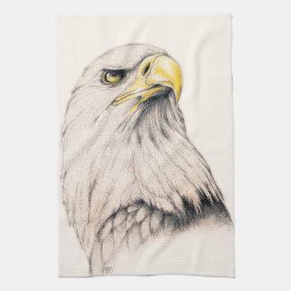 De Tekening van de kunst van Eagle Theedoek