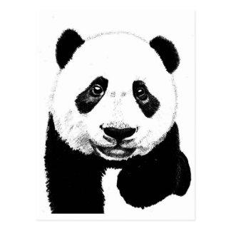 De tekening van de panda briefkaart